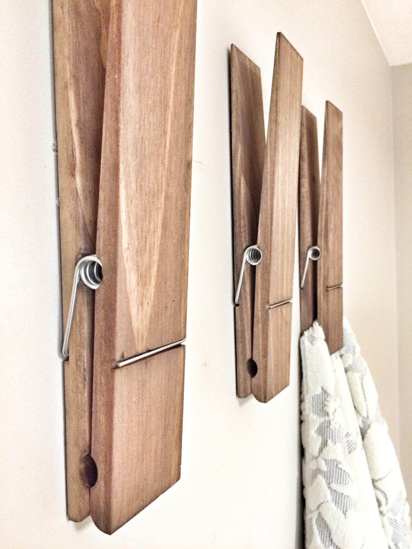Mollette giganti da bucato appendi oggetti da parete for Oggetti decorativi casa