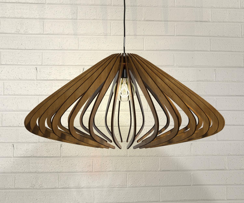 Lampadario in legno design moderno industrial minimalista for Lampadario legno moderno