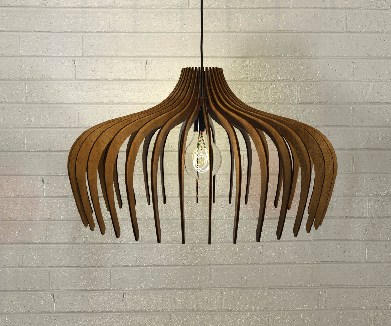 Lampadario in legno design moderno industrial minimalista - Keblog ...