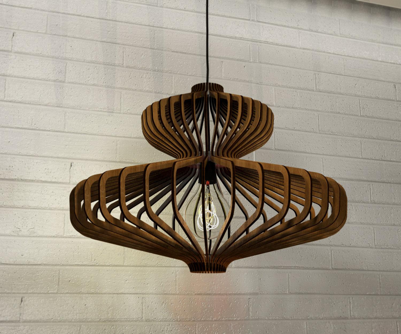 Lampadario In Legno Design : Lampadario in legno design moderno industrial minimalista ke