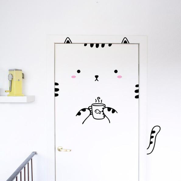 Wall sticker in vinile gatto sisi keblog shop for Stickers armadi bambini