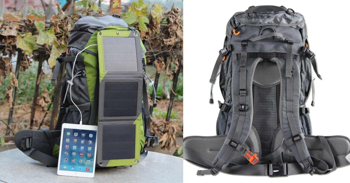 Zaino Trekking Con Pannello Solare : Zaino trekking con pannelli energia solare ke shop