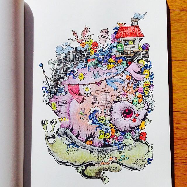 Disegni Da Colorare Per Adulti Doodle Invasion Keblog Shop
