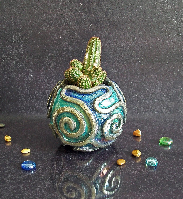 Ceramica Raku vasetto in ceramica raku per piante grasse - keblog shop