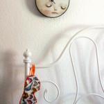 Orologio da parete luna piena assonnata