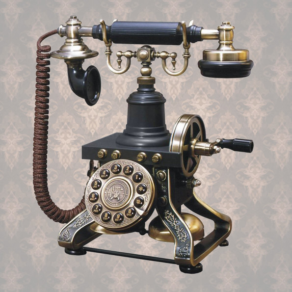 telefono steampunk riproduzione antico