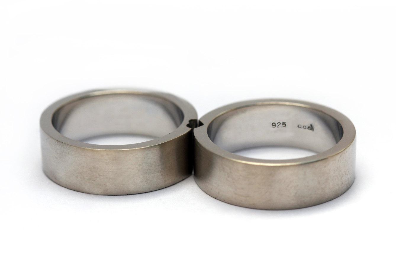 matching heart wedding rings engagement anniversary 2 - Heart Wedding Rings