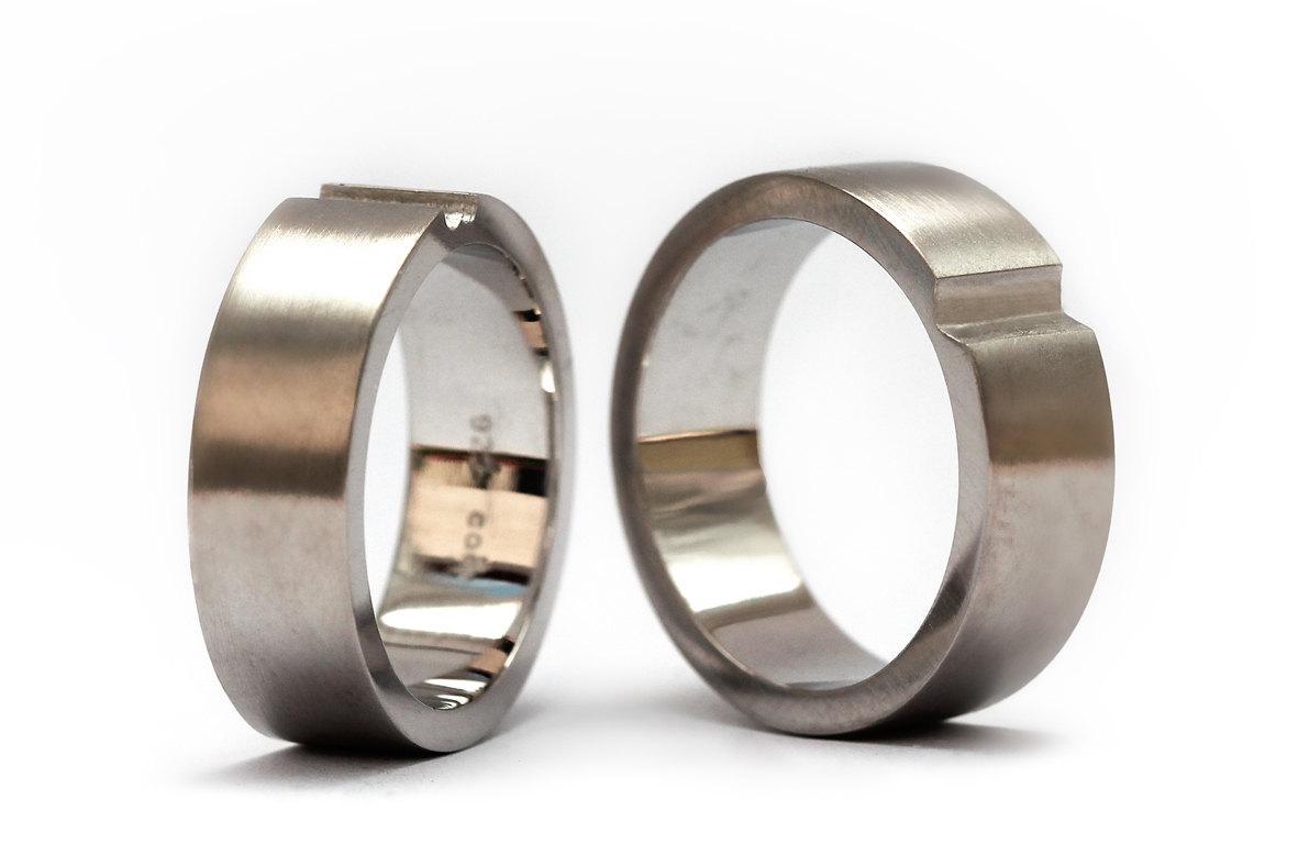 matching heart wedding rings engagement anniversary 4 - Heart Wedding Rings